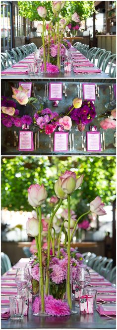 Wedding Table Flower Centerpieces Purple Glamour | visit www.lovelyweddingideas.com