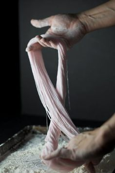 Hand-Pulled Cotton Candy   Click the image to see how it's done - so cool.