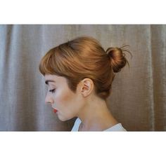 short bangs that look cute with hair up or down My Hairstyle, Pretty Hairstyles, Hairstyle Wedding, Updo, Coiffure Hair, Short Bangs, Good Hair Day, Dream Hair, About Hair