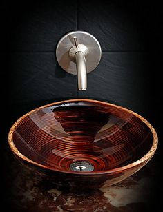 Natural Wooden Wash Basins with Glossy Varnish