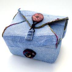 Upcycled denim box
