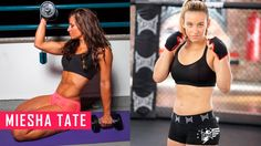 Miesha Tate demonstrates her workout