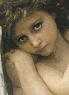 ♔ Angel detail ~ William Bouguereau (1825-1905)