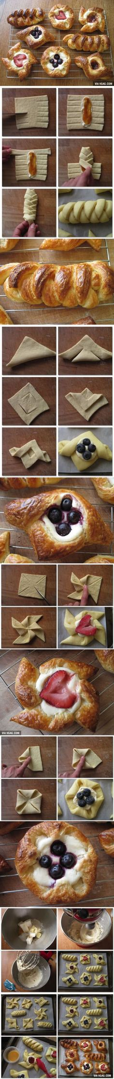 A Few Easy Ways To Fold Your Pastry Beautifully