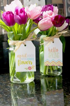 Free Printable Spring Gift Tags - Wedding Venues May May Day Baskets, Gift Baskets, Happy Spring, Hello Spring, Homemade Gifts, Diy Gifts, Estilo Floral, Brunch Decor, Gift Tags Printable