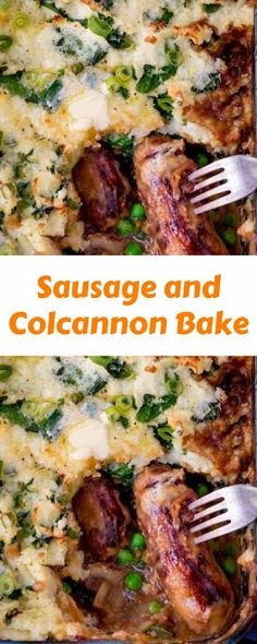 Sausage and Colcannon Bake World's Best Food, Good Food, Yummy Food, Easy Delicious Recipes, Great Recipes, Healthy Recipes, Healthy Low Calorie Meals, Low Calorie Recipes, Low Sugar Recipes