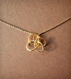 Petite Twist Necklace - Brass