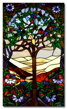 Tree of Life stained glass - if I have to stare at a wall of the garage - this would be nice