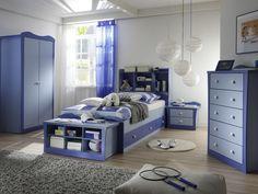 Modern Retro Blue Kids Bedroom Design Ideas   Children's Bedroom Decorating Ideas Begin With The Correct Furniture