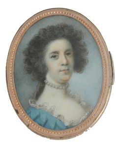 A portrait miniature of a young Lady, English School, circa 1785, for Sale