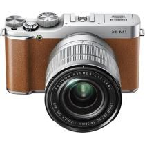 Fujifilm - X-M1 Compact System Camera with 16-50mm Lens - Brown