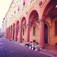 In #Bologna, shopping & gelato go hand-in-hand, under the porticoes of course! - Instagram by @Keith Jenkins