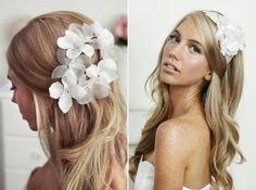 I don't like her hair piece, but look how pretty her hair is! Wedding Hairstyles For Long Hair, Bride Hairstyles, Pretty Hairstyles, Straight Hairstyles, Hairstyle Ideas, Hair Ideas, Messy Hairstyle, Perfect Hairstyle, Beach Hairstyles