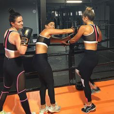 When you rock up to training in the same get up! Girls all in TULLY LOU  Demi Crop, Hayley Pants + Parna Pants.