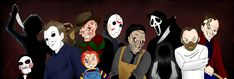 horror movie art pictures | horror movie icons by darthguyford fan art digital art drawings movies ...