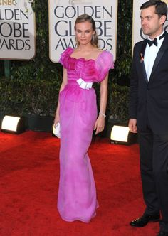 The Golden Globe Gowns We'll NEVER Forget | Diane Kruger in Christian Lacroix at the 2010 Golden Globe Awards