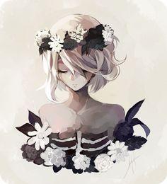 Trendy Flowers Girl Pictures Anime Art – Trend Art ideas on World Manga Anime, Manga Art, Fan Art Anime, Anime Art Girl, Anime Girls, Art Floral, Wie Zeichnet Man Manga, Flower Girl Pictures, Art Anime Fille