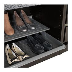 "KOMPLEMENT Pull-out shoe shelf - dark gray, 39 3/8x22 7/8 "" - IKEA"