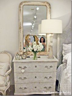 Beautiful dresser and mirror from The Iron Gate (via Southern Hospitality)