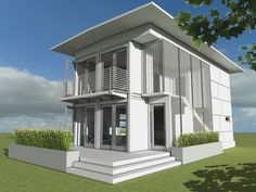 Homes made from re-purposed metal shipping crates from Logical Homes. Available in a variety of floorplans.