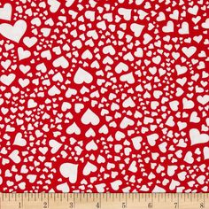 Michael Miller Rouge Et Noir Zillion Hearts Red from @fabricdotcom%0A%0AFrom Michael Miller, this cotton print is perfect for quilting, apparel and home decor accents. Colors include red and white.