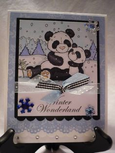 Winter Panda Bears