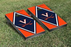 Virginia UVA Cavaliers Wahoos Cornhole Game Set Diamond Version