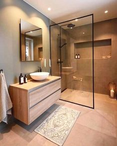 Dreaming of an extravagance or designer master bathroom? We've gathered together plenty of gorgeous bathroom suggestions for small or large budgets, including baths, showers, sinks and basins, plus master bathroom decor suggestions. Scandinavian Bathroom Design Ideas, Modern Bathroom Design, Bathroom Interior Design, Bathroom Designs, Interior Ideas, Scandinavian Kitchen, Modern Bathrooms, Small Bathrooms, Bath Design