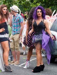 Preparing For The Gay Pride Parade.