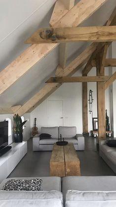 Home Office Design, Interior Design Kitchen, House Design, Living Room Interior, Home Living Room, Loft Conversion Bedroom, Attic Bedroom Small, Living Room Decor Inspiration, Attic Design