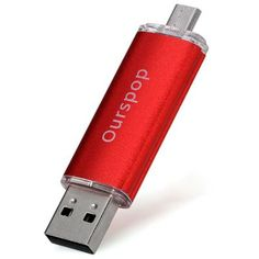 Ourspop 16GB Micro 5 pin and USB 2.0 U Disk for Computer and Smart Phone (RED) | Everbuying.com
