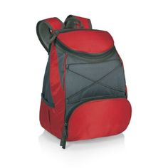 Picnic Time 'PTX' Insulated Backpack Cooler, Red. For product & price info go to:  https://all4hiking.com/products/picnic-time-ptx-insulated-backpack-cooler-red/