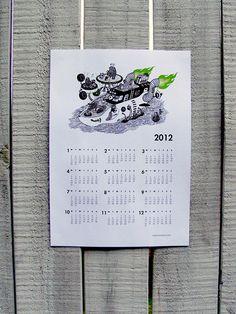 2012 Single Sheet Wall Calendar - Pleasure Cruise (green) $5