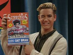 haha screechios...gotta love saved by the bell! Watched this show EVERYDAY growing up! Zach & Kelly 4 Ever! :)