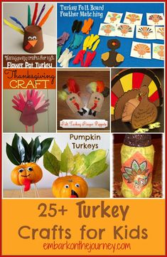 25+ Turkey Crafts for Kids list
