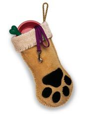 Dog Paw Stocking DIY