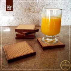 Porta copo! Produto bonito, diferenciado e de madeira de reaproveitamento <3