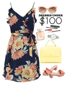 """Under 100$: Summer Dresses"" by blacksky000 ❤ liked on Polyvore featuring Joie, Loeffler Randall, Orciani, Linda Farrow, CLUSE and Clinique"