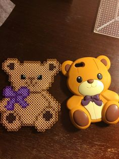 Perler bead teddy bear by Opaloid