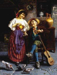 Zermati, Jules (active 1880-1920) - The Guitar Player