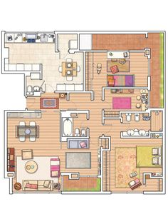 Plano gran apartamento