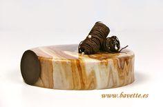 Tarta tiramisú y glaseado de dos colores
