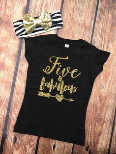 Fünf und fabelhaft  Geburtstag Shirt  5. Geburstag  von VazzieTees