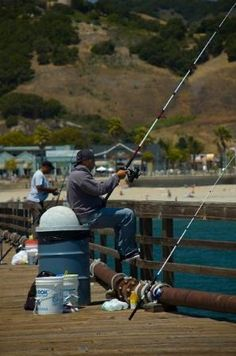 Fisherman in Avila Beach.