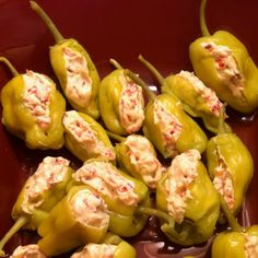 Made these Stuffed Pepperoncini for football Sunday! SOOO good!