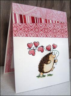 Valentines Day-Valentines Day Card-Hedgehog Valentines Day-Hedgehog Valentine Card-Hedgehog Valentine-Hedgehog Card-Hedgehog Gift-Love Card   Penny Black Hearts Away