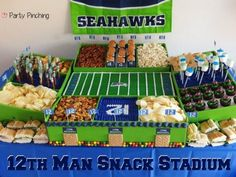 Super Bowl Snack Stadium - Party Planning - Party Ideas - Cute Food - Holiday Ideas -Tablescapes - Special Occasions And Events - Party Pinching