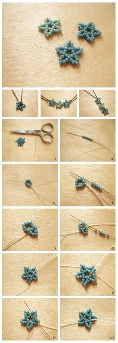 Perlen Sterne Perlen Sterne The post Perlen Sterne appeared fi… Pearl stars pearls stars The post beads star appeared first on jewelry ideas. Jewelry Patterns, Bracelet Patterns, Beading Patterns, Bracelet Designs, Necklace Designs, Diy Bracelet, Bracelet Tutorial, Beads Tutorial, Crochet Bracelet
