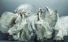 Part of the Alexander McQueen Savage Beauty exhibit. .