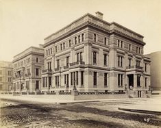 Emily Vanderbilt Sloane's Fifth Avenue Mansion, after buying and combining it with her sister's  mansion next door